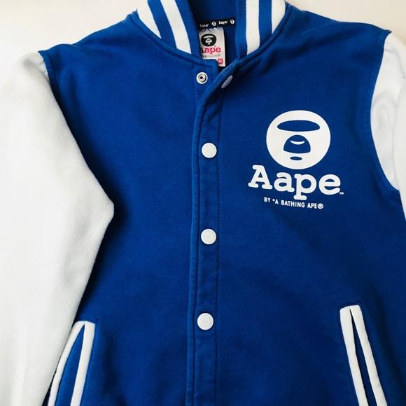 db276ce7e281ae Bape Aape by bathing ape varsity jacket
